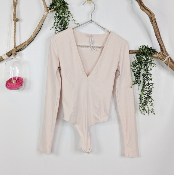 Free People Tops - 💥NEW INTIMATELY FP Super soft deep V BODYSUIT 253 5edc21522